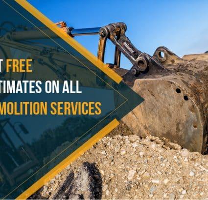 yellow tractor excavating - Big Easy Demolition CTA button