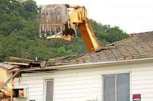 Residential demolition in Kenner