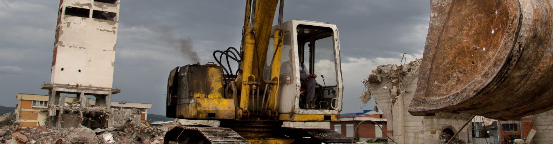 demolition tractor