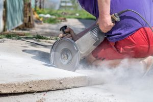 Cutting Damaged Concrete - Big Easy Demolition