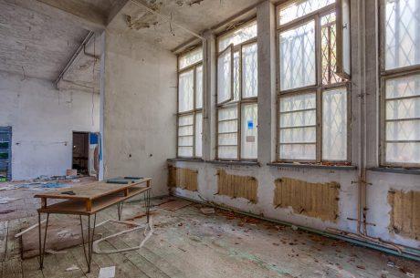 Demolished room with wooden floor - Big Easy Demolition