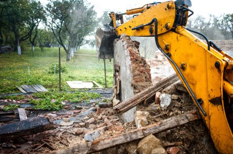 Preparing for a home demolition